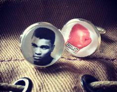 Cufflinks Muhammad Ali -tribute- fathers Day gift - men accessories