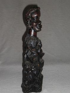 Afrikanische Holzskulptur Makonde Lebensbaum  African wood sculpture 60er