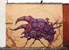 Street Art Mural By Sego For Board Dripper Urban Art Festival. Street Art News, Best Street Art, Street Art Graffiti, Street Artists, Go Fly A Kite, Mexican Artists, Cute Monsters, True Art, Mural Art