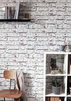 Un papier peint à l'effet brique, pour un espace à l'esprit loft, tendance et original ! #castorama #inspiration #decoration #ideedeco #tendancedeco #papierpeint #brique #bureau #GoodHome Terrazzo, Decoration, Photo Wall, Frame, Diy, Ferdinand, Home Decor, Inspiration, Houses