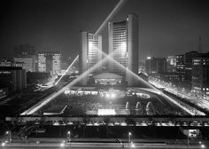 Opening week, New City Hall September 1965 Photo Toronto Fire Department Toronto Ontario Canada, Toronto City, Toronto Photography, Street Photography, Iconic Photos, Amazing Photos, Instagram Worthy, New City, Vintage Photographs