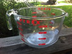 $.99 Pyrex 2 quart measuring cup. Found at Goodwill