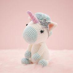Aurora the Unicorn amigurumi pattern by LittleAquaGirl