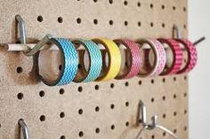 Washi tape storage on a peg board