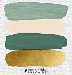 The Perfect Wedding Color Palette: White Sage, Ivory, Artichoke and Gold. : The Perfect Wedding Color Palette: White Sage, Ivory, Artichoke and Gold. Gold Wedding Colors, Spring Wedding Colors, Wedding Color Schemes, Wedding Themes, Home Color Schemes, Wedding Color Palettes, Green Color Schemes, Wedding Advice, Color Combinations