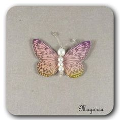 STICKER PAPILLON SOIE 5 CM ROSE - Boutique www.magicreation.fr