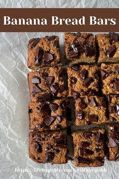 Healthy Banana Bread Bars- Super thick, chewy and tasting just like banana bread! they These babies are tender on the outside and slightly gooey and soft on the inside- Made with all healthy ingredients! A quick, easy, and delicious snack, dessert or breakfast! #banana #bananabread