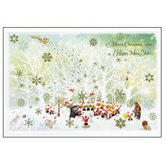 Greeting Life Mini Santa Christmas Card S-351