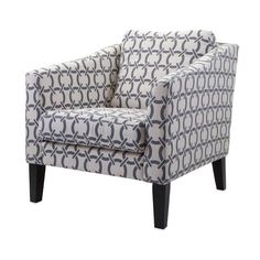 Grey & White Contemporary Pine Club Chair,Office/Home  #Unbranded #Contemporary #Chairs