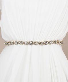 Alex Sash - Gold | Kirsten Kuehn || handmade crystal bridal sashes