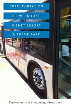 Mode Of Transportation Between Each Disney Resort And Theme Park Disney World Vacation Planning, Disney World Parks, Walt Disney World Vacations, Disney World Transportation, Polynesian Village Resort, Grand Floridian Disney, Disney Tickets, Disney World Tips And Tricks, Disney Springs