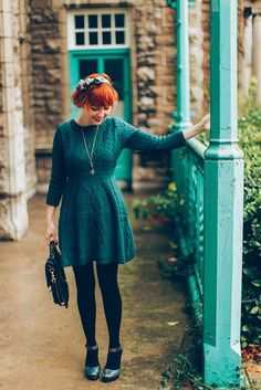 A Clothes Horse: Outfit: Sweater(dress) Weather Style Winter Mode Outfits, Winter Fashion Outfits, Fall Outfits, Autumn Fashion, Outfits 2016, Style Outfits, Pretty Outfits, Beautiful Outfits, Cute Outfits