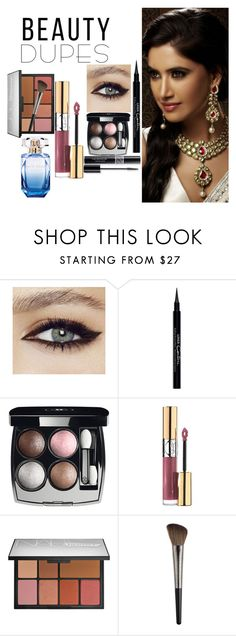 """""""indian"""" by haleena9alsairy ❤ liked on Polyvore featuring beauty, Givenchy, Chanel, Christian Dior, Yves Saint Laurent, NARS Cosmetics, Elie Saab, bridal and beautydupes"""