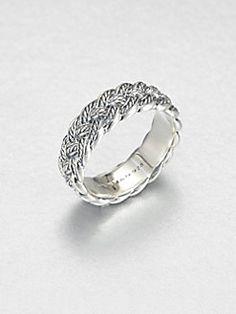 David Yurman - Sterling Silver Woven Band Ring