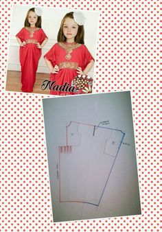 Kaftan 4 the girl Kids Dress Patterns, Sewing Patterns For Kids, Clothing Patterns, Kids Kaftan, Kaftan Pattern, Dress Anak, Couture Sewing, Diy Dress, Little Girl Dresses
