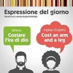 Learning Italian Language ~ English / Italian idiom: Cost an arm and a leg. Cuesta un ojo de la cara