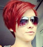 Red Short Hair With Color Simple White Decoration Ideas Impressive Motive Themes Women Glasses supreme 10 short hair with color for women ideas Short Hairstyles Ideas