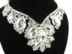 Chunky Rhinestone Crystal Bridal Statement by bloomsnbrides, $76.00