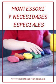 Quieres saber más sobre la relación entre Montessori y Necesidades Especiales? Haz click aquí para leer este post! #montessoriencasa Frases Montessori, Job Images, Children, Kids, Diy And Crafts, Teaching, Education, Books, Montessori Activities