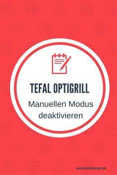 Warum schaltet der Tefal Optigrill beim Start automatisch in den manuellen Modus? Marke:Tefal Modell:Optigrill,GC702D Hilfsmittel:keine #Abschaltung #Manuell #Tefal #Tischgrill