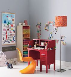 the boo and the boy: The panton chair used in kids' rooms. Work space.