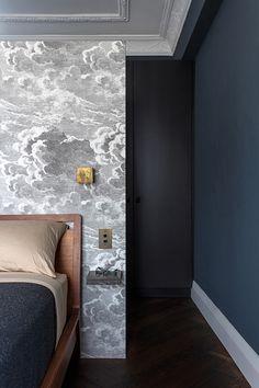 feature wallpaper in bedroom