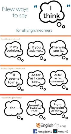 other ways to say I think pictures -         Repinned by Chesapeake College Adult Ed. We offer free classes on the Eastern Shore of MD to help you earn your GED - H.S. Diploma or Learn English (ESL).  www.Chesapeake.edu