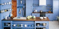 Láká vás modrá kuchyň?