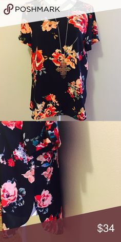 Boutique Brand Floral Tunic Size Medium Boutique Brand Black Floral Tunic. Unworn & in perfect condition without flaws.   All items come from a smoke free home and are shipped on the same or following day an order is placed.   Reasonable offers are considered and often accepted. Deals on bundles are also available. Tops Tunics
