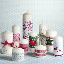 resultado de imagen para velas blancas decorativas navideas