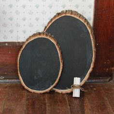 Wood Chalkboard, love this!