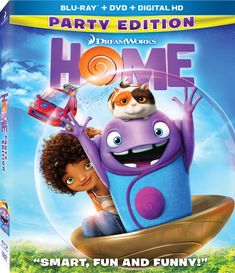 Home poster, t-shirt, mouse pad Dreamworks Animation, Animation Film, Amblin Entertainment, Ray Film, Home Movies, My Favorite Things, Entertaining, Fun, Anime