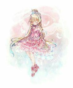 Moe Anime, Anime Chibi, Anime Girl Cute, Anime Love, Anime Stars, Anime Friendship, Pretty Drawings, Manga Girl, Magical Girl