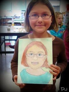 Easy kids self portrait idea. Love this little cheat to help with learning proportion and for color mixing.