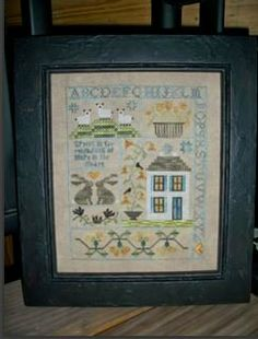 """""""Hope of Spring"""" is the title of this cross stitch pattern from Chessie and Me."""