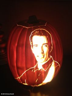Drew Scott's photo: My pumpkin carving skills have come a long way. Beat this Jonathan!   Pumpkin Wars on HGTV US is going to be intense!