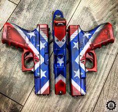 Weapons Guns, Guns And Ammo, Gun Art, Confederate Flag, Hunting Guns, Custom Guns, Cool Guns, Assault Rifle, Firearms