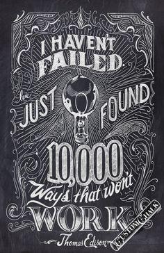Optimistic outlook, Mr. Edison