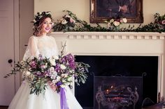 Pantone of the Year wedding inspiration with lots of purples and ultraviolet colour pops - with practical tips on how you can add this trend to your big day. This image is taken from a styled shoot designed and planned by myself.  #pantoneoftheyear #2018weddingtrends #2018bride
