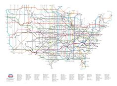 US Highway System as subway maps