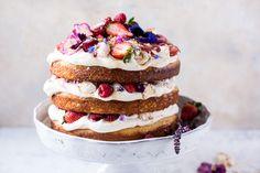 Coconut Eton Mess Cake with Whipped Ricotta Cream | halfbakedharvest.com @hbharvest