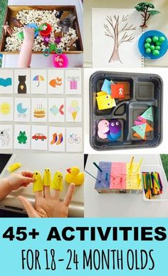 45 Learning activities for toddlers list of activities for toddlers activities for month old activities for one year old activities for 18 Activities For One Year Olds, Toddler Learning Activities, Montessori Toddler, Toddler Play, Montessori Activities, Infant Activities, Toddler Crafts, Preschool Activities, Toddler Games