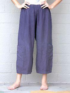 Bryn Walker Flax Light Weight Linen Casbah Pant Pocket Pants s M L Fig | eBay