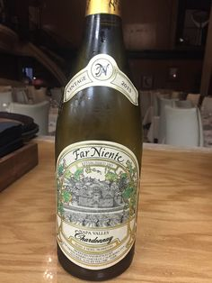 Far Niente Chardonnay, Napa Valley ('13)  $120 - Toasted oak with tropical aromas of citrus and melon layered with honeysuckle