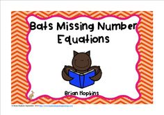 Bats Missing Number (addend) Equations Task Cards is a Fall (Autumn), Halloween, or bird theme and can be used in many ways including the popular game Scoot! You can also laminate the cards and the children can use a dry erase marker to fill in the missing numbers. These can be used to play Showdown, Quiz, Quiz Trade, Numbered Heads Together, placed at a math center, or used for small groups. There are so many great possibilities.