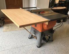 Ridgid r4512 ts shop built folding outfeed table router insert ridgid r4512 tablesaw outfeed table greentooth Choice Image