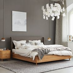 Farbe im Schlafzimmer   Grüne Erde Bed Furniture, Furniture Design, Beautiful Bedrooms, Sofa Bed, My Room, Home And Living, Master Bedroom, Sweet Home, New Homes