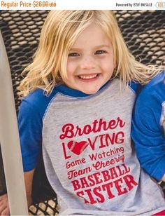 LAST CHANCE SALE girls baseball shirts baseball sister by LineLiam