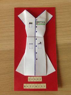 Carte de départ à la retraite pour une collègue infirmière.