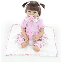 ZIYIUI Reborn Baby Doll 18inches 45cm Tiny treasures Toddler Reborn doll Handmade Soft silicone Vinyl Sleeping baby doll Growth partners